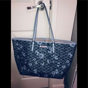 Michael kors floral grey Xl tote